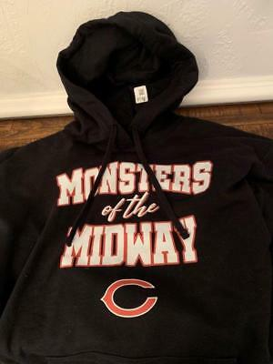 Chicago Bears Monsters Of The Midway Black Hoodie NFL Football Sport Mens  XL New 20c65276d
