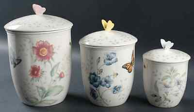 Lenox BUTTERFLY MEADOW 3 Piece Canister Set 8322262