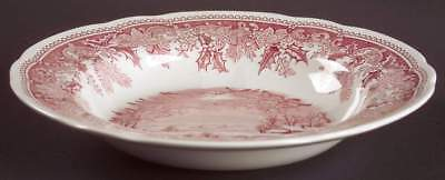 Spode WINTER'S EVE RED Rimmed Soup Bowl 6118787