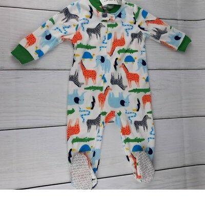 235e41d3ba Carter s Boy s 12M 18M 3T Animals White Footed Blanket Pajama Sleeper New  Nwt