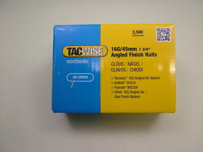 2nd fix collated angled brad nails Tacwise brand 16 gauge 45mm box of 2500