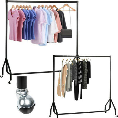 Clothes Rail Garment Rack Heavy Duty 5ft/6ft Hanging Home Shop Display Steel