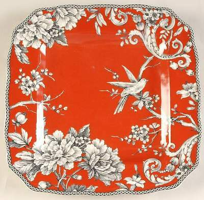 222 Fifth ADELAIDE RED Square Dinner Plate 10081890