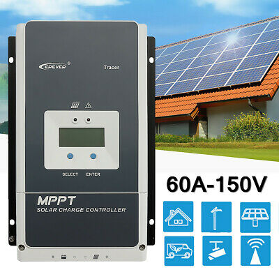 EPEVER Tracer MPPT Solar Controller Charge Regulator 10A 20A 30A 40A / MT50