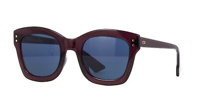 67ae6cb72b Christian Dior Diorizon Izon 2 07T KU Plum Blue Women Sunglasses New  Authentic