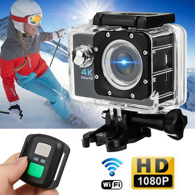 Waterproof 4K Wifi Sport Action Camera 2'' LTPS DV 1080P HD Cam DVR Camcorder AU