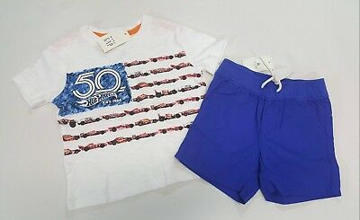 NWT Baby Gap Boys Size 0-3 or 3-6 Months Jeep Car Top /& Navy Blue Rugby Shorts