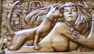 Egypt cleopatra relief 3d model relief for cnc in STL file format