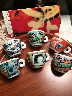 Illy collection 1996 videogrammi   by Nam June Paik 6 tazzine caffè