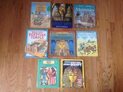 Lot of 8 ANCIENT EGYPT Children's History Books: Pyramids, Mummies & More! 3 HB
