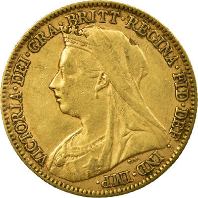 [#513079] Coin, Great Britain, Victoria, 1/2 Sovereign, 1895, EF(40-45), Gold