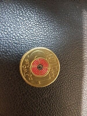 1x REMEMBRANCE DAY 2018 $2 Single Coin Armistice 100 Years Red Poppy UNC