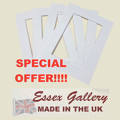 JOBLOT 50 POLAR WHITE picture and photo mounts 8x6 for 6x4