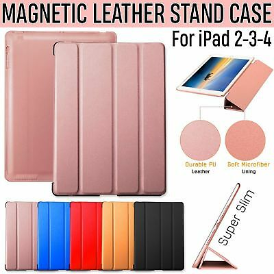 Case For Apple iPad 2/3/4 Models Smart Cover Protector Stand Magnetic Leather IR