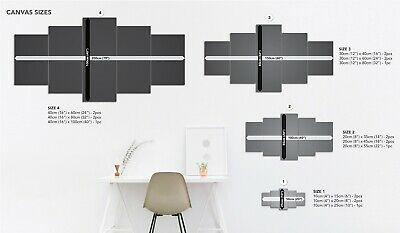 Modern Abstract Canvas Print Painting Framed Home Decor Wall Art Poster 5Pcs