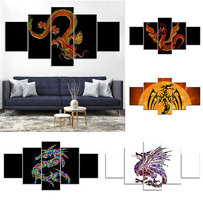 Chinese Dragon Modern Abstract Canvas Print Painting Home Decor Wall Art Poster