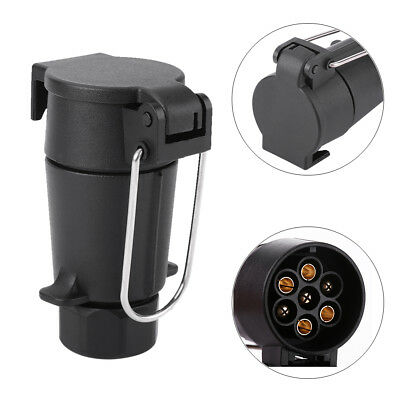 7 Pin Plug Trailer Truck Electric Adapter Towbar Towing Socket N-Type Euro Style