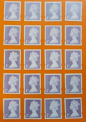 """50 1st Class lilac """"A"""" grade Unfranked GB Stamps (Peelable)"""