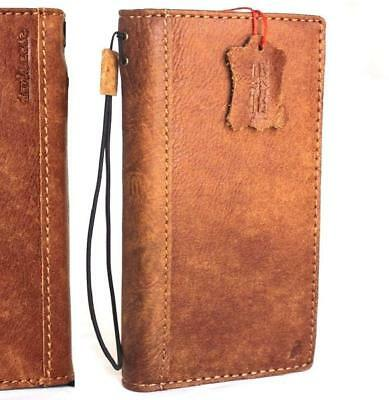 genuine real leather Case fo apple iphone XS wallet handmade cover strap stand