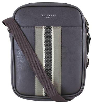 cd6cf884abf99 Ted Baker Mens Jets Webbing Mini Flight Bag - Chocolate Brown Green