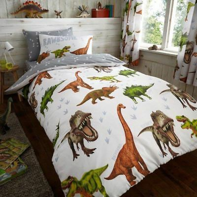 Rawrsome Dinosaur T-Rex Single Duvet Cover Set Kids Boys Bedding