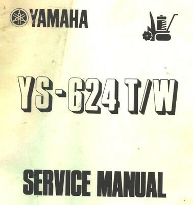 YAMAHA YS-624T and W Service manual 81 pages . PDF Download.