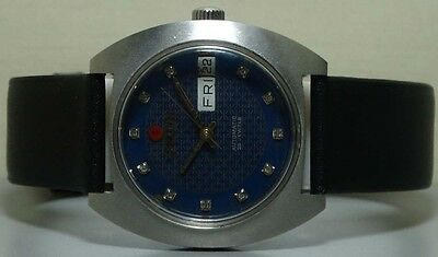 VINTAGE FELCA AUTOMATIC Day DATE SWISS MENS WRIST WATCH R953 USED ANTIQUE