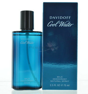 Davidoff Coolwater Men  Deodorant Deodorant Spray Glass 2.5 Oz