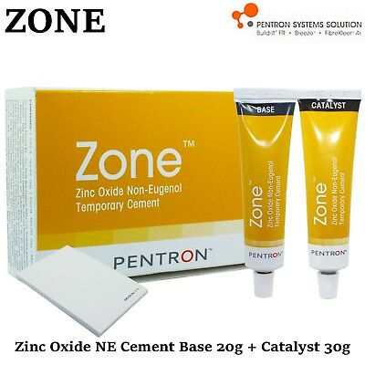 Dental Pentron Zone Temporary Cement Crowns Bridges Zinc Oxide Non Eugenol 50g