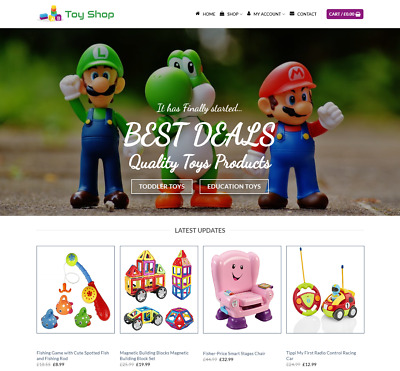 Toy Shop Website For Sale - Earn £390.00 A SALE. Free Domain| Web Hosting
