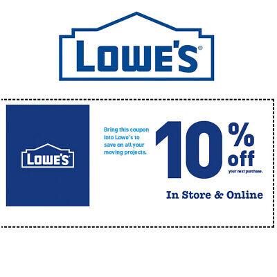 10% OFF at Lowes * Online & In-Store Рurchases * Exp 3/31/19