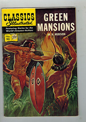 CLASSICS ILLUSTRATED No. 90 Green Mansions - 25c - HRN 169