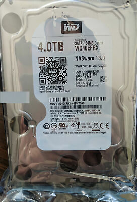"""Western Digital WD WD40EFRX Red 4TB NAS 3.5"""" NASware 3.0 Hard Drive NEW & SEALED"""