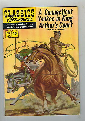 CLASSICS ILLUSTRATED No. 24 A Connecticut Yankee - 25c - HRN 169