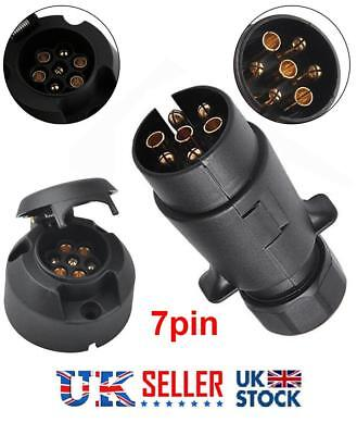 Trailer Socket and Plug for Caravan or Trailers 12n type 7 pin