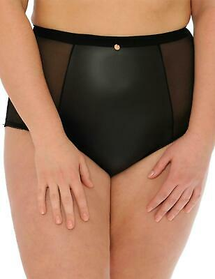 Scantilly By Curvy Kate Unleash High Waist Brief Knickers ST2605 Black