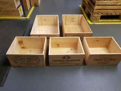 5 Pack of Wooden Wine Box Crate for Vintage Shabby Chic Home Storage *
