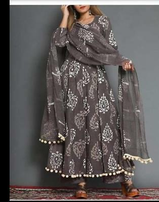 Indian Women Party wear Summer Anarkali Salwar Kurtis & Duppta Exclusive Dress