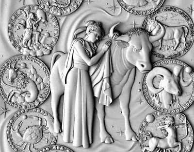 Panno zodiac relief 3d model relief for cnc in STL file format