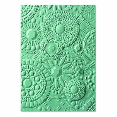 Sizzix 3-D Texture Fades Embossing Folders - Mosaik-Edelsteine by Courtney Chils
