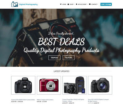 Digital Camera Website For Sale - Earn £490.00 A SALE. Free Domain| Web Hosting