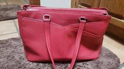 07789949ee COLE HAAN RED Leather Business Brief Tote Laptop Bag, Brand new ...