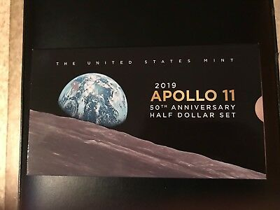 2019 S Apollo 11 50th Anniversary Kennedy-Half Dollar Enhanced Reverse Proof Set