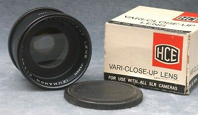 HCE VARIABLE CLOSE UP ZOOM ATTACHMENT f/55MM THREADS, JAPAN - FREE USA SHIPPI