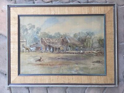 Colonial watercolour circa 1830s Framed Unsigned Painting