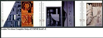 Louise Nevelson MNH Complete Strip of 5 Scott's 3379 3380 3381 3382 & 3383