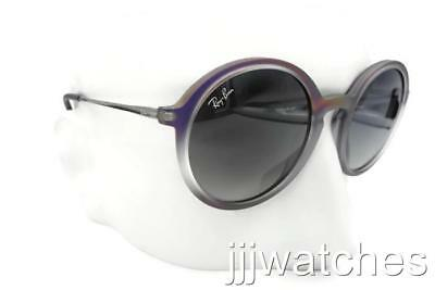 ccdc84fd2c New Ray Ban Round Rubber Violet Gray Gradient Sunglasses RB4222 6223 11 50