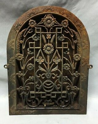 Antique Arched Top Heat Grate Floral Decorative Arch 9X13 133-19C