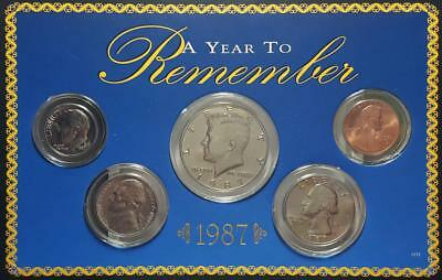 1987 A Year to Remember 5-Coin Set Clad