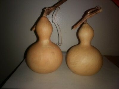 "Set of 4 Bottle gourds Good Shape dry and clean  4"" high"